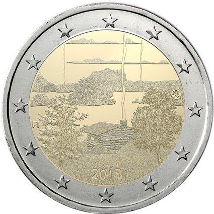 """2 € Finnland """"Finnische Sauna-Kultur"""" 2018 CuNi bfr"""