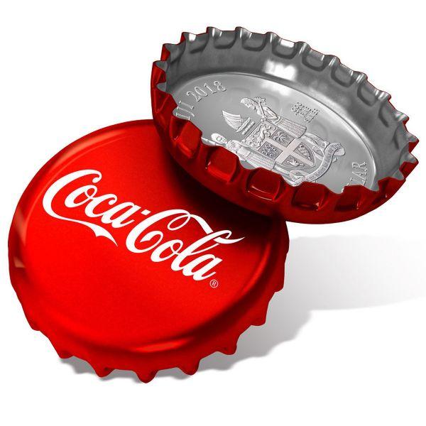"""1 Dollar Fiji """"Coca-Cola Cap"""" 2018 Ag"""
