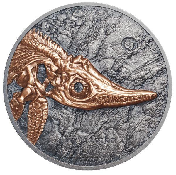 "500 Togrog Mongolei ""Ichthyosauria"" 2017 Ag AF"