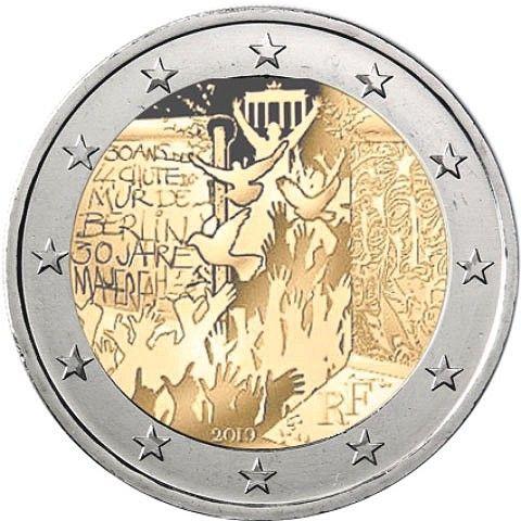 "2 € Frankreich ""30 J. Berliner Mauerfall"" 2019 CN bfr"