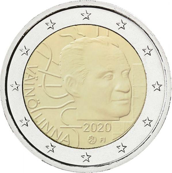 2 Euro Finnland 100 Gb. Väinö Linna 2020 CN bfr