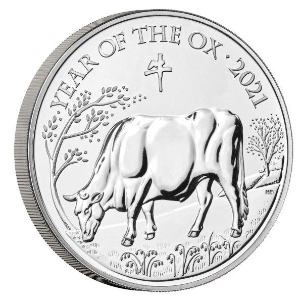 5 Pfund Großbritannien Lunar - Ochse 2021 Cuni St