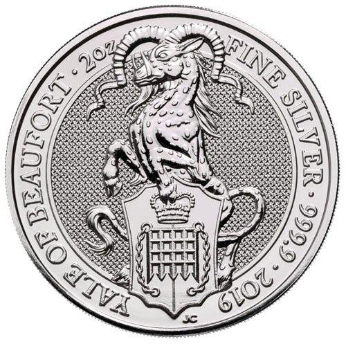 """5 Pfund Großbritannien """"The Queen´s Beasts - Yale"""" 2019 Silber St"""