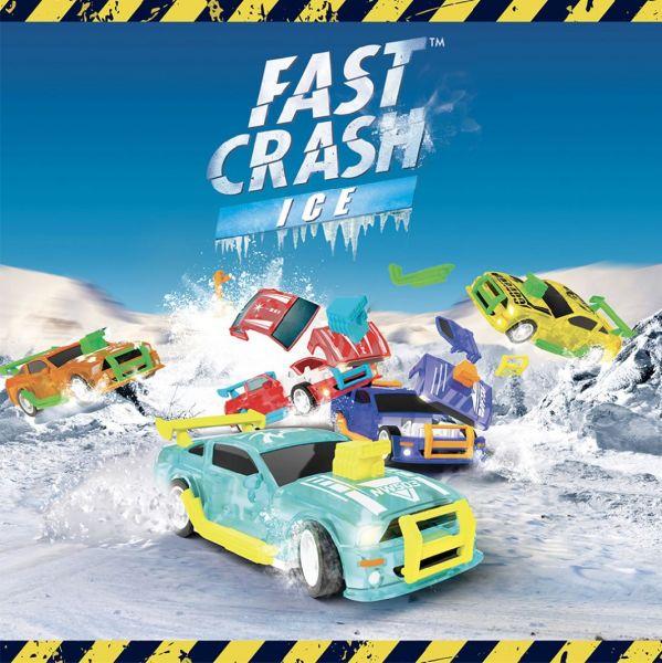 6er Set Fast-Crash-Ice Racing Cars Hachette