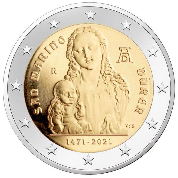 2 Euro San Marino 550. Geb. Albrecht Dürer 2021 CN vz