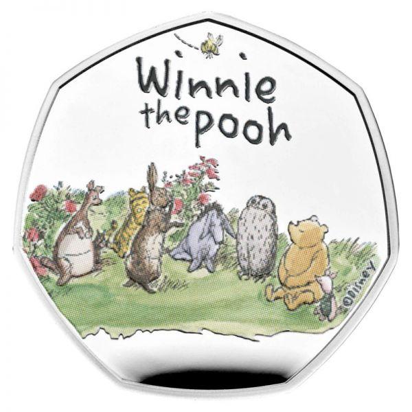 50 Pence GB Winnie Puuh + Friends #4 2021 Silber PP