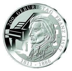 10 Euro Deutschland 200 Geb. Franz Liszt 2011 Silber PP -G-