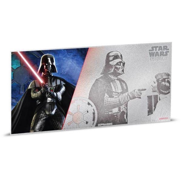 """1 Dollar Niue """"Star Wars - Darth Vader"""" Banknote 2018 Ag St"""
