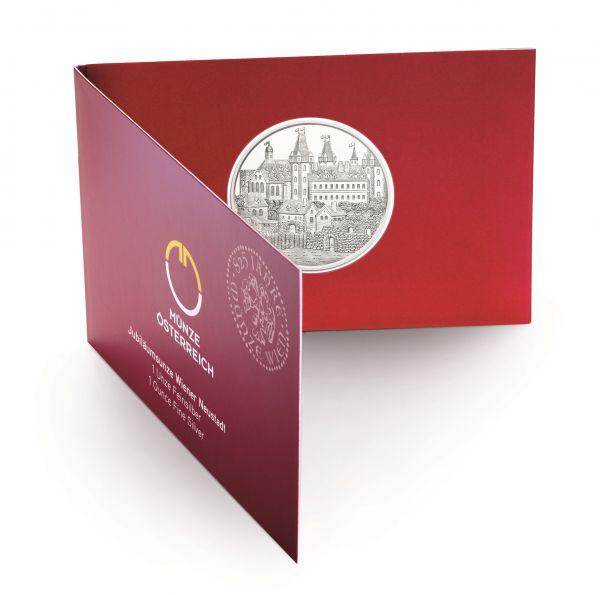 """1,50 € Österreich """"Wiener Neustadt"""" 2019 1oz Silber St Blister"""