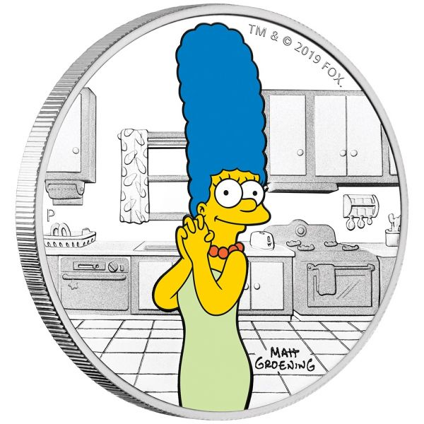 "1 Dollar Tuvalu ""Marge Simpsons"" 2019 Silber PP"