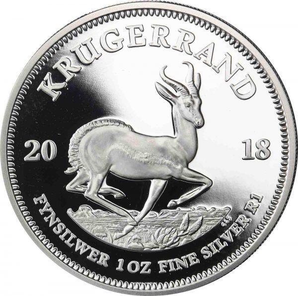 """1 Rand Südafrika """"Krügerrand"""" 1oz 2018 Silber PP"""