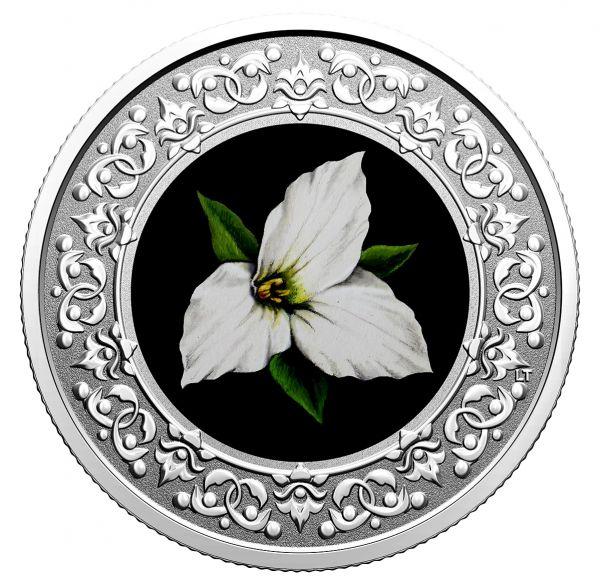 3 Dollar Kanada Waldlilie - Ontario 2020 Silber PP