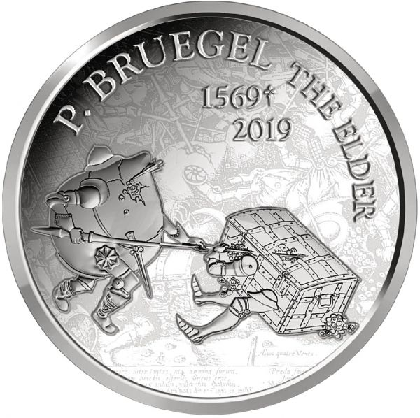 "10 Euro Belgien ""450. Todestag P. Bruegel"" 2019 Silber PP"
