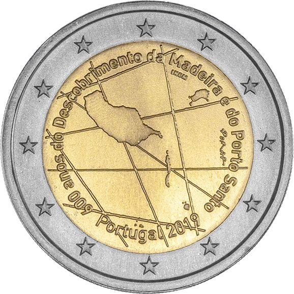 "2 € Portugal ""600 J. Entdeckung Madeira Archipel"" 2019 CuNi bfr"