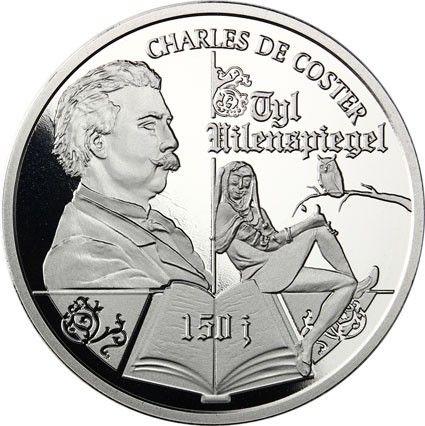 """10 Euro Belgien """"Till Eulenspiegel"""" 2017 Ag PP"""