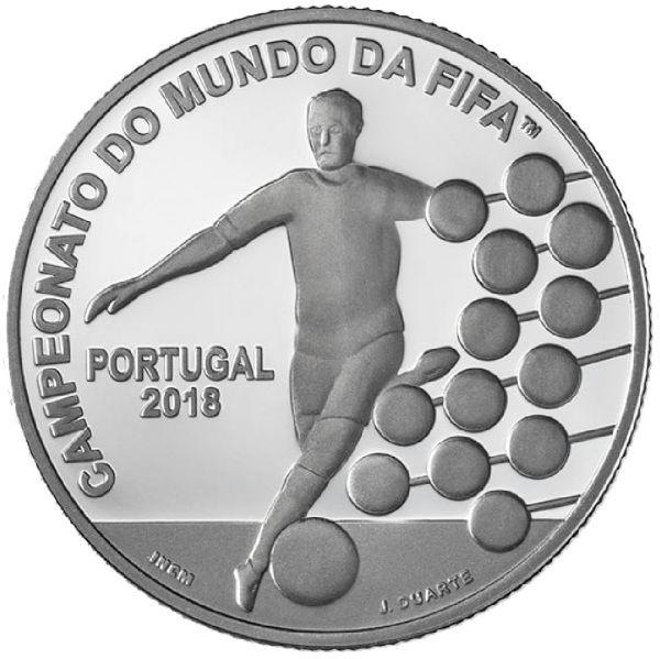 "2,5 € Portugal ""FIFA Fußball WM in Russland"" 2018 Silber PP"