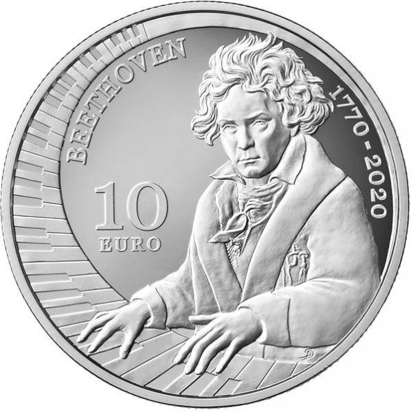 10 Euro San Marino 250. GB Ludwig van Beethoven 2020 Silber PP