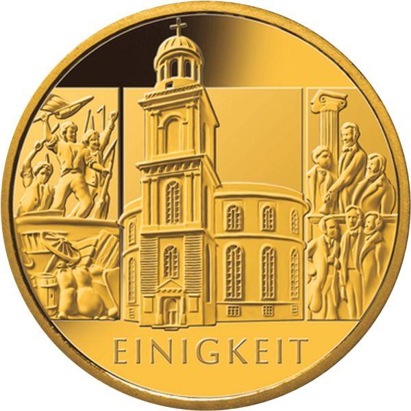 100 Euro DE Säulen der Demokratie - Einigkeit 2020 Gold St -F-