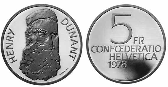 5 CHF Dunant 1978 CuNi PP