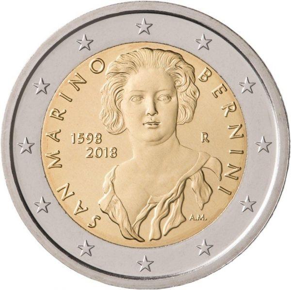 "2 € San Marino ""420. Geb. Gian Lorenzo Bernini"" 2018 CN bfr"