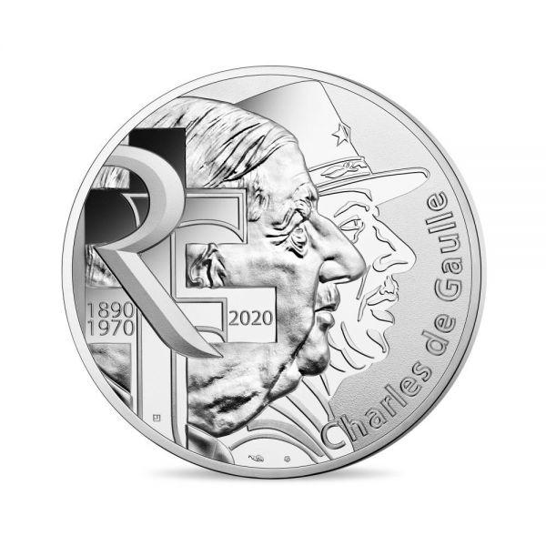 100 Euro Frankreich Charles de Gaulle 2020 Silber St