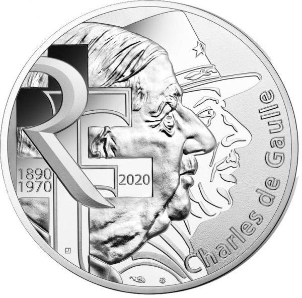 10 Euro Charles de Gaulle - Persönlichkeit 2020 Silber St