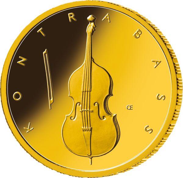"""50 € DE """"Kontrabass"""" 2018 Gold St 1/4oz -G-"""