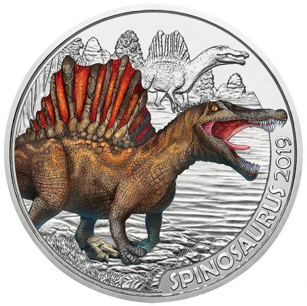 3 € Österreich Dinotaler - Spinosaurus 2019 Buntmetall hgh