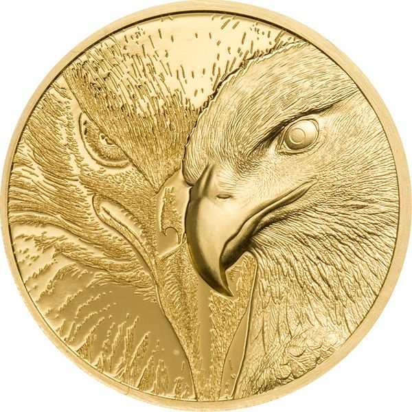 1000 Togrog Mongolei Majestic Eagle 2020 Gold PP