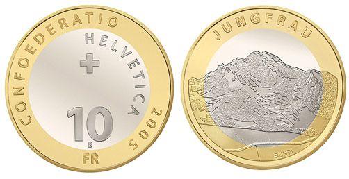 10 CHF Jungfrau 2005 CN st