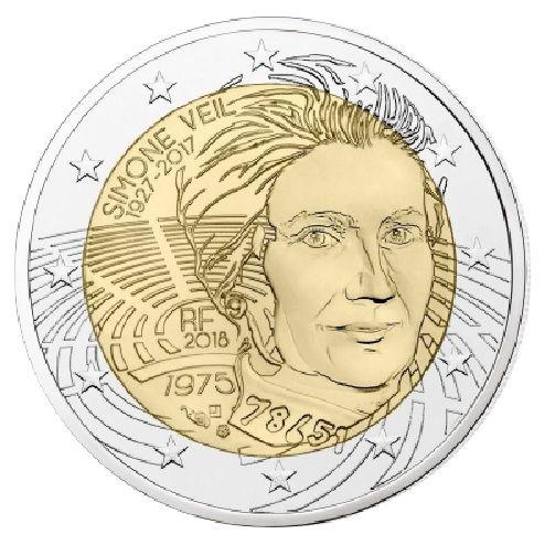 "2 € Frankreich ""Simone Veil"" 2018 CN bfr"
