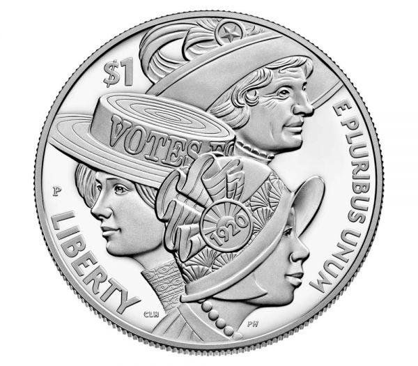 1 Dollar USA Frauenwahlrecht 2020 Silber PP
