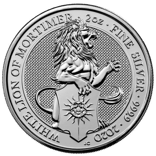 5 Pfund Großbritannien The Queen´s Beasts - Weißer Löwe 2020 Silber St