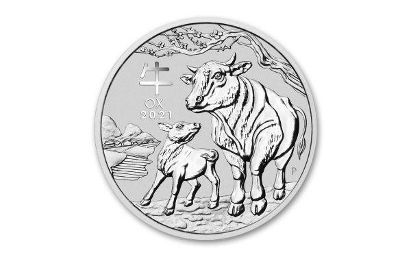 1 Dollar Australien Lunar Jahr des Ochsen 2021 Silber St