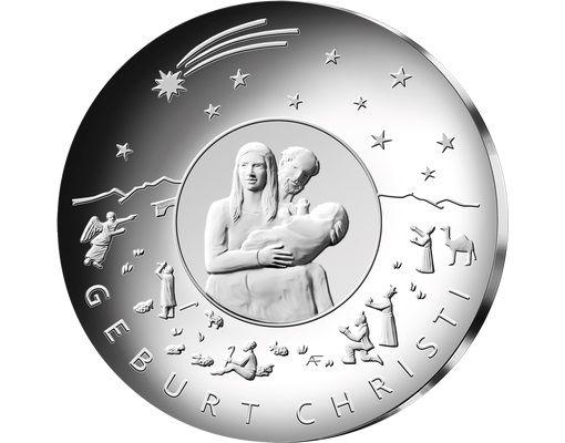 25 Euro DE Weihnachten - Geburt Christi 2021 Silber St -J-