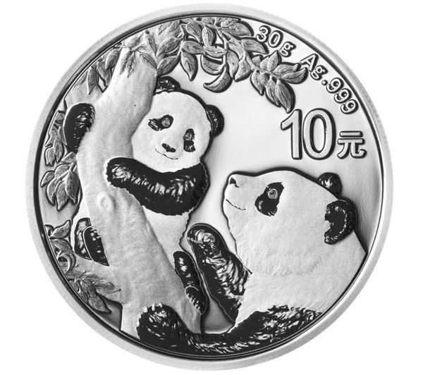 10 CNY China Panda 2021 Silber St 1 oz