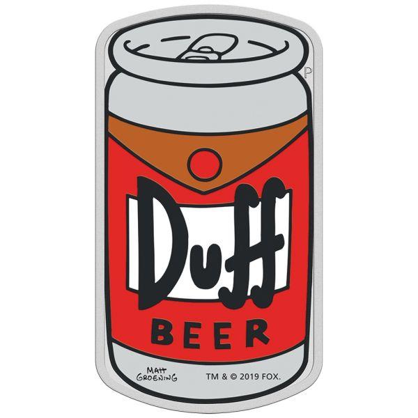 "1 Dollar Niue ""Simpsons™ - Duff Bier"" 2019 Silber PP"