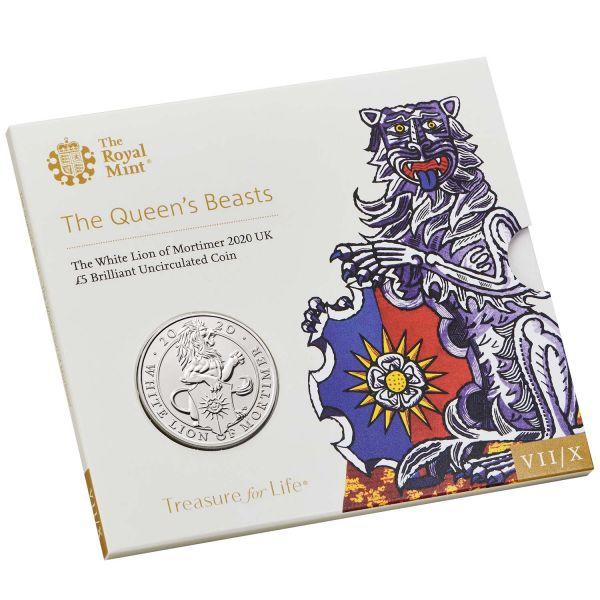 5 Pfund Großbritannien The Queen´s Beasts - Weißer Löwe 2020 Cuni St