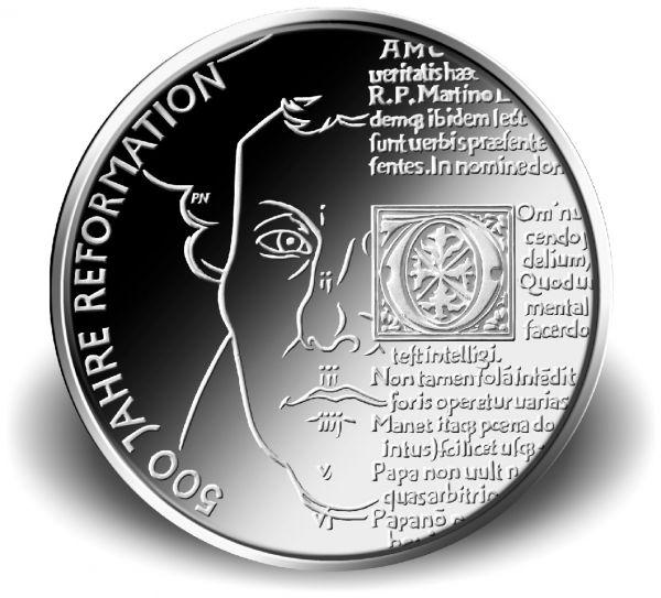 """20 € DE """"500 Jahre Reformation"""" 2017 Silber St -A-"""