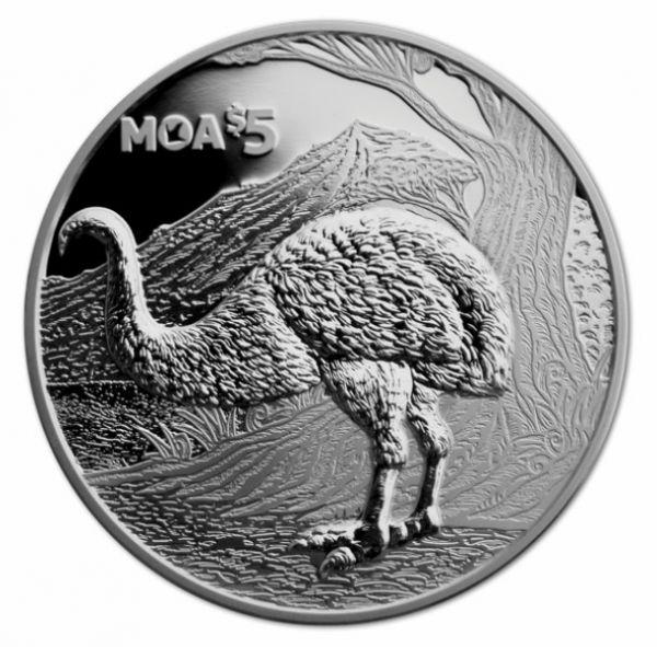 "5 Dollar Neuseeland ""Moa"" 2018 Silber PP"