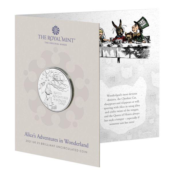 5 Pfund GB Alice's Abenteuer im Wunderland 2021 Cuni St