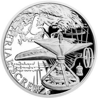 "1 $ Niue ""Helikopter - Leonardo Da Vinci"" 2019 Silber PP"