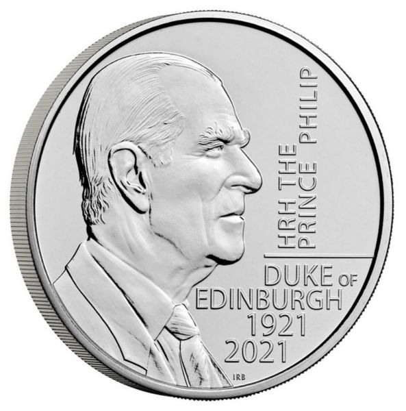 5 Pfund Großbritannien Prinz Philip 2021 Cuni St