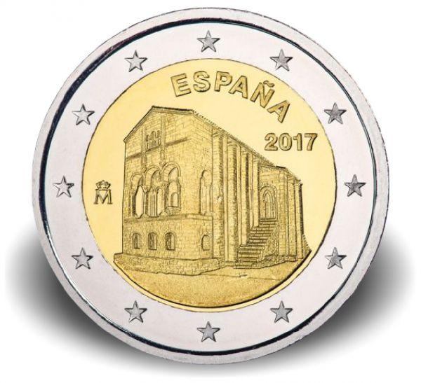 """2 € Spanien """"Kirche Santa Maria del Naranco"""" 2017 CN bfr"""