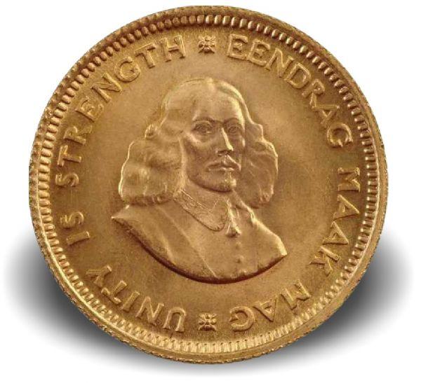 1 Rand + 2 Rand Van Riebeck 1961-83 Gold St