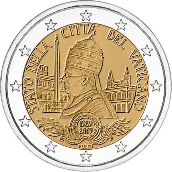 """2 € Vatikan """"90 J. Gründung Vatikanstaat"""" 2019 CN St"""