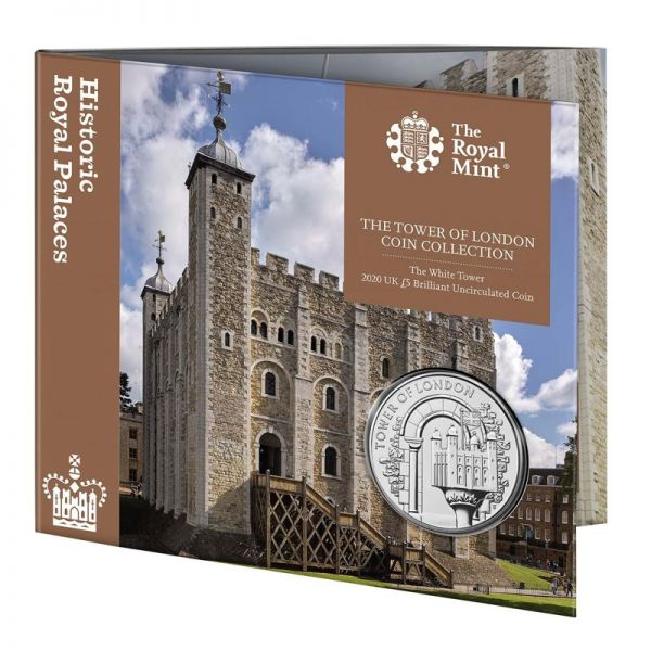 5 Pfund Großbritannien The White Tower 2020 CuNi St