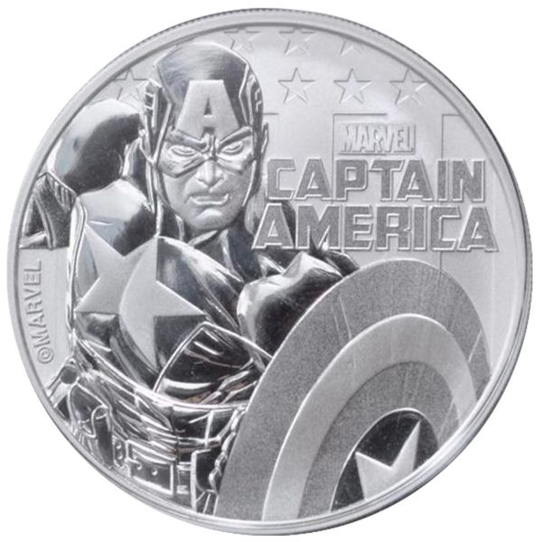 "1 Dollar Tuvalu ""Captain America"" 2019 Silber St"