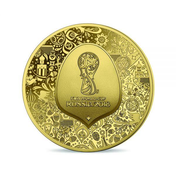 """5 € Frankreich """"FIFA Fußball WM Russland"""" 2018 Gold PP"""