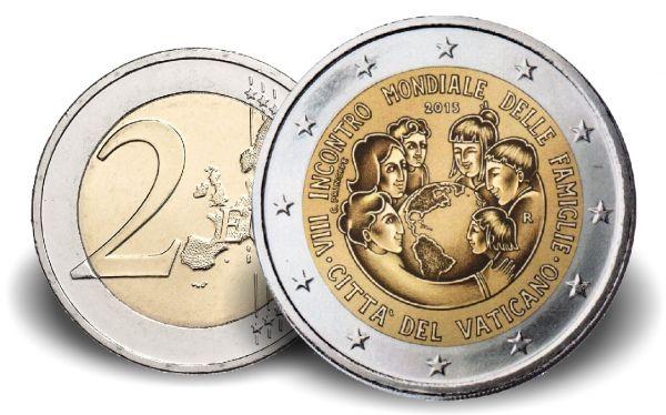 """2 € Vatikan """"Weltfamilientreffen"""" 2015 CN PP"""